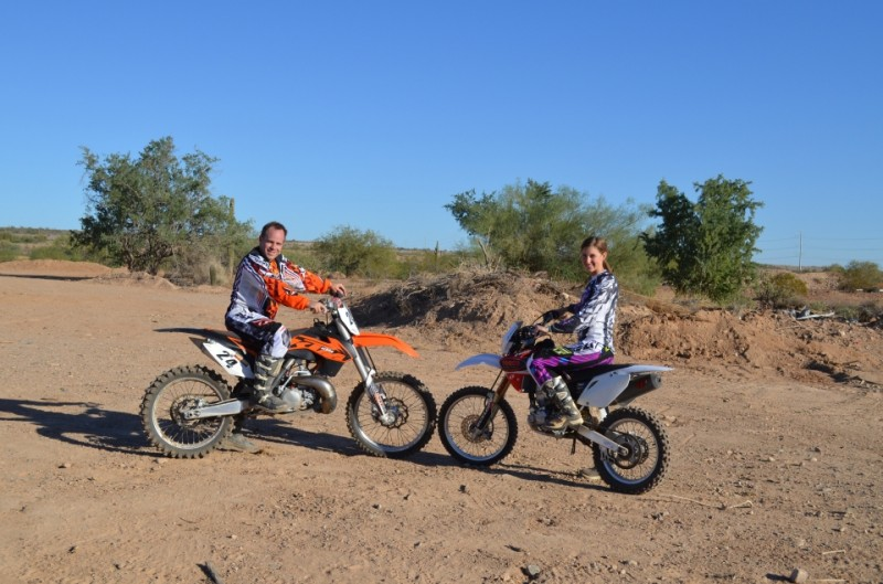 We love to dirt bike together!