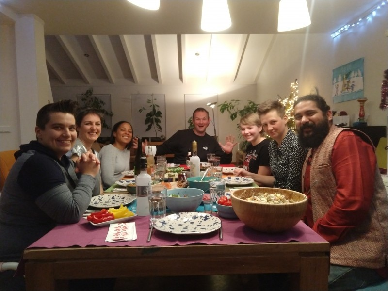 We had a big New Year's feast this year, with friends from all over the world!