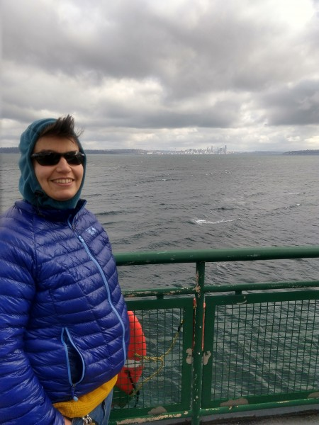 We ride the ferry when we go from my parents' house to Seattle, and the upper deck has amazing views!