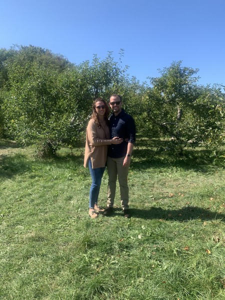 Apple picking on a beautiful day!