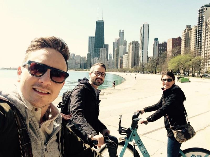 Visiting Brad's sister in Chicago