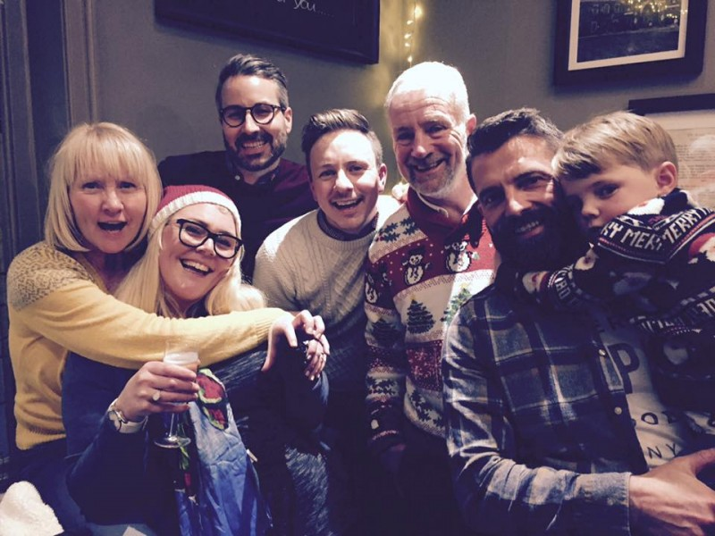 Getting together with Ross's family at Christmas