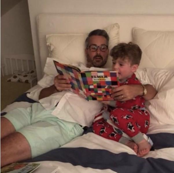 Brad reading bedtime stories