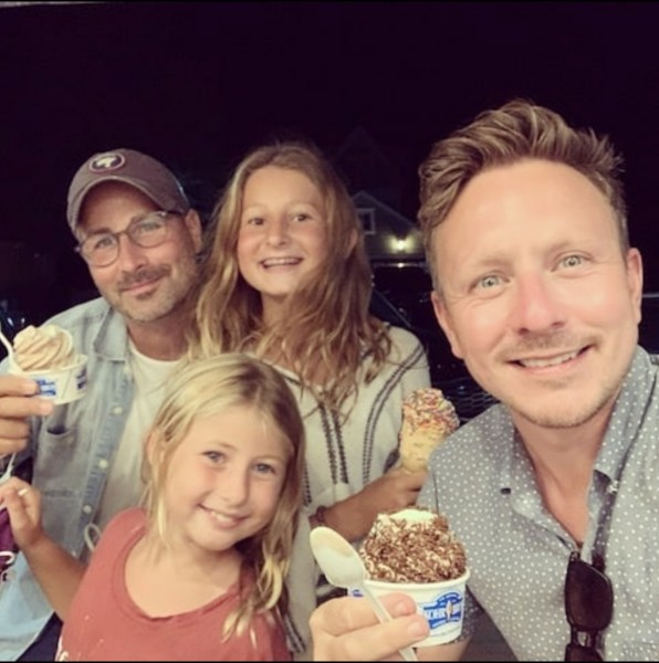 grabbing late-night ice creams with our nieces