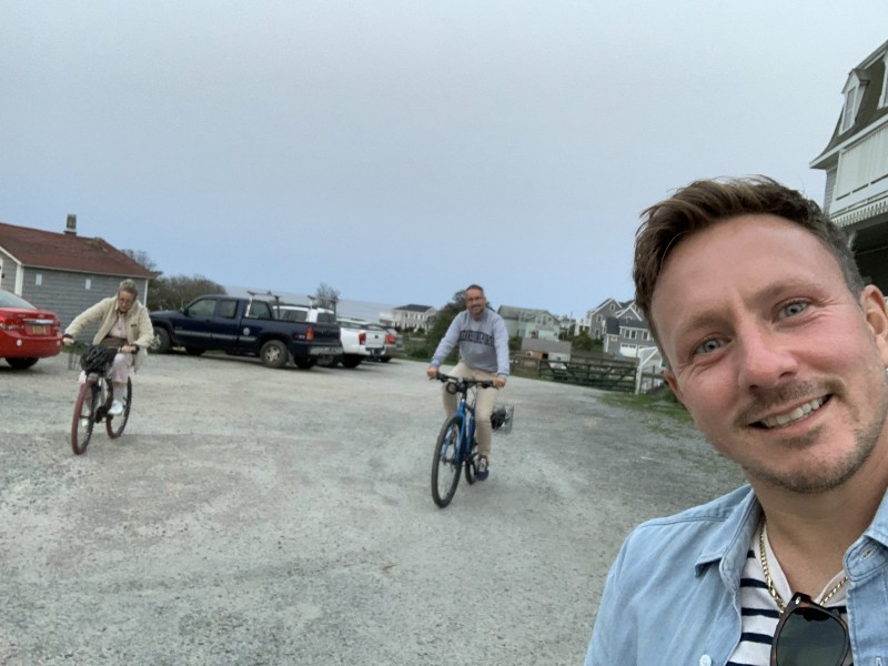 Fun times cycling on vacation