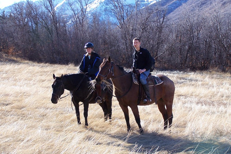 Nate took Rebecca on a surprise horseback ride to propose to her.