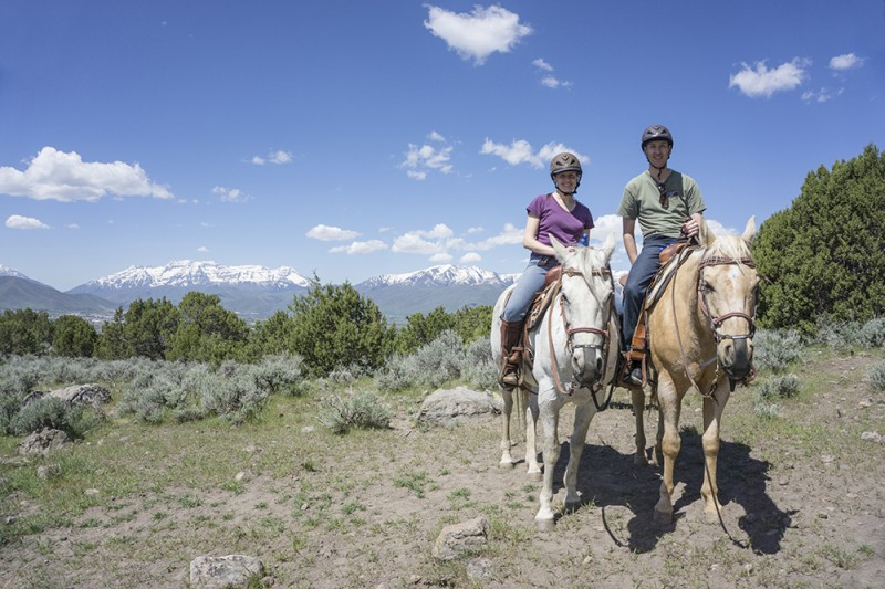 For our 10th anniversary, we went horseback riding - one of Rebecca's favorite activities!