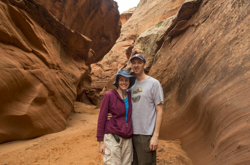 Here we are celebrating our 8th anniversary with a trip to some slot canyons and other things in northern AZ and southern UT