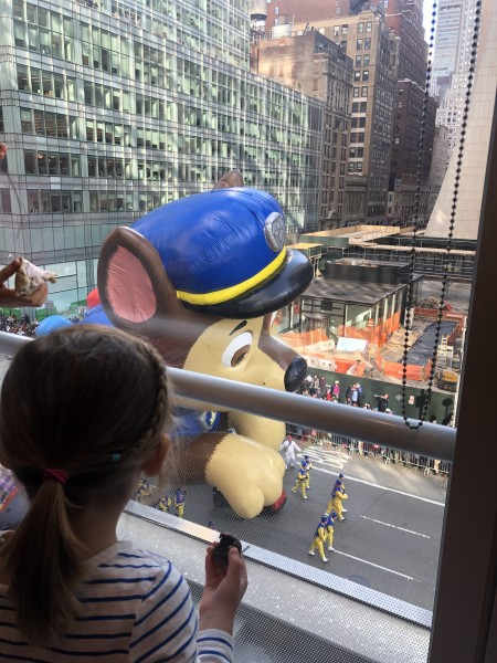 VIP view of the NYC Thanksgiving day parade