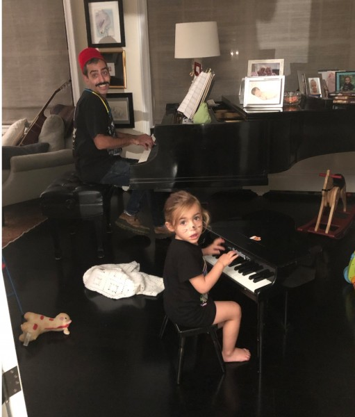 Matt and Charlie playing duel pianos