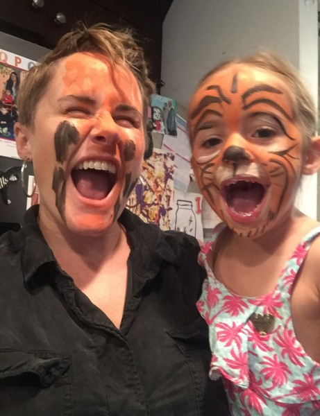 Face Painting each other