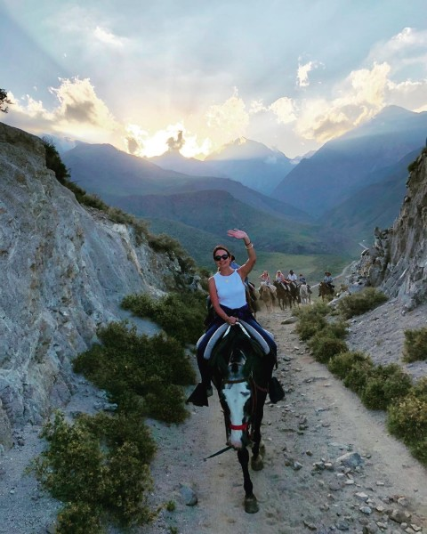 Taking a journey of a horse is called CABALGATAS. This was a Cabalgatas with family in The Andes