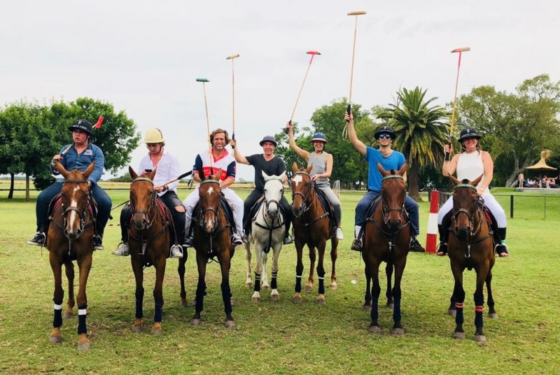 Learning to play polo - a huge sport in Argentina. We can't wait to give our children the opportunity to learn and love different sports as we do.