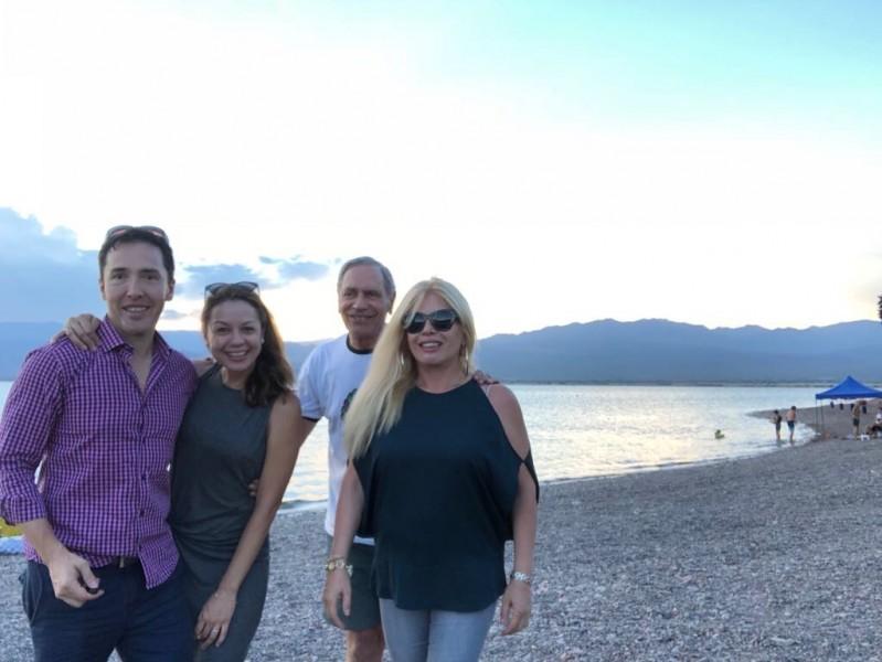 Pam and Hugo with Hugo's mom