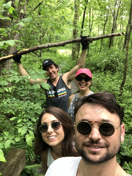 With our friends in New York, hiking in the Catskills