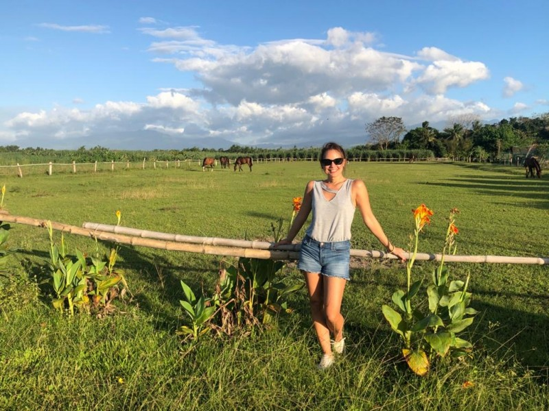 We visited a farm that cared for horses