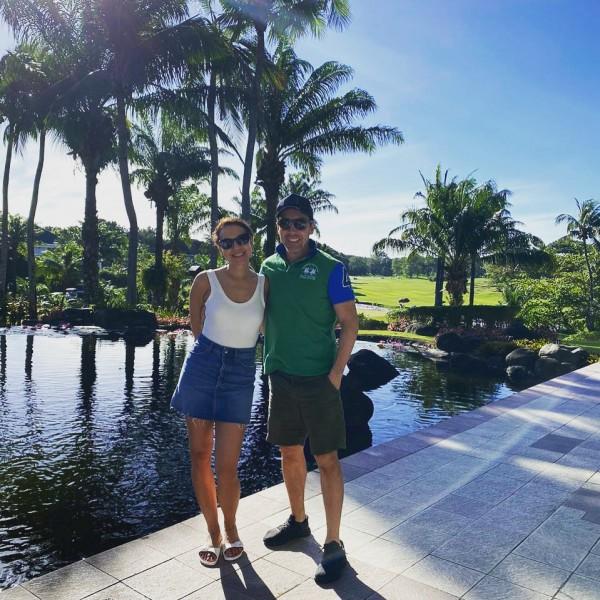 Pam and Hugo enjoying the tropical climate