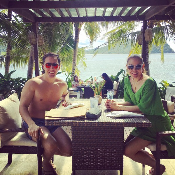 Pam and Hugo relaxing in a magnificent island in the Philippines. We can't wait to raise our children as water babies who love the beach and the ocean