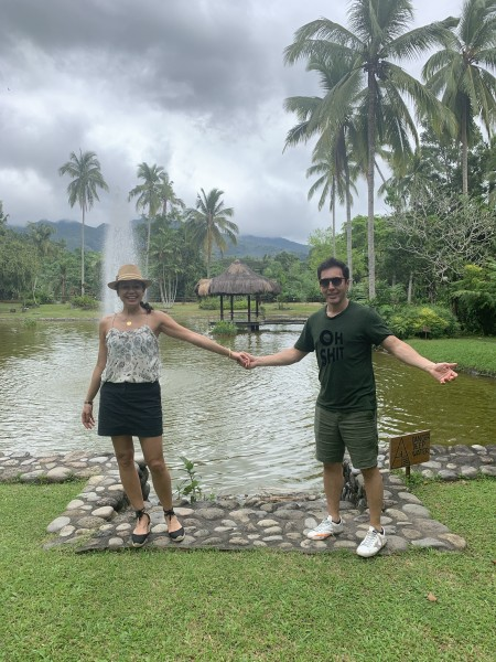 Another shot of us taking in the tropical climate
