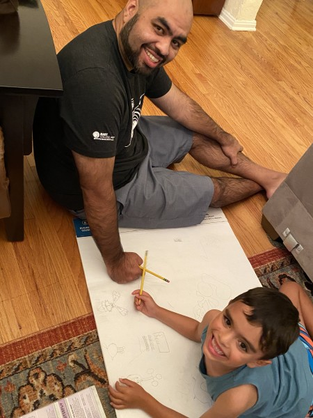 """Paulo and Nico making a map for """"Pokemon Land"""""""