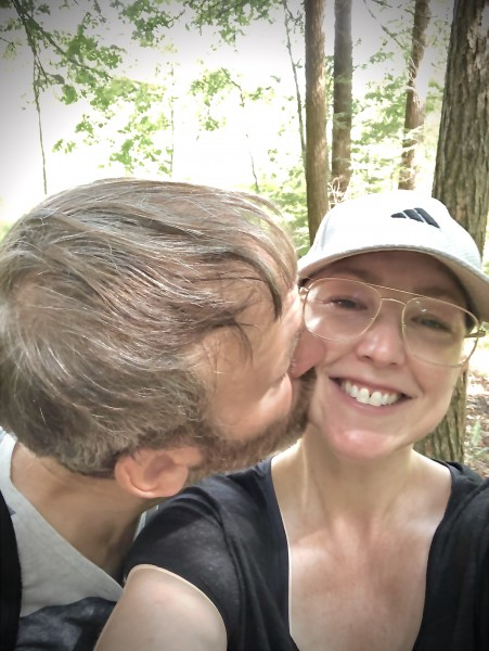 A hiking kiss