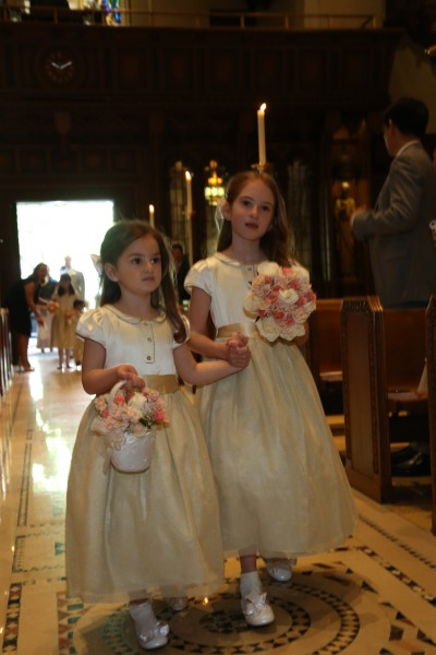 Hugo's nieces served as one of the many flower girls in our wedding party