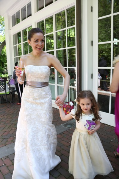 Pam with our niece and one of the many flower girls
