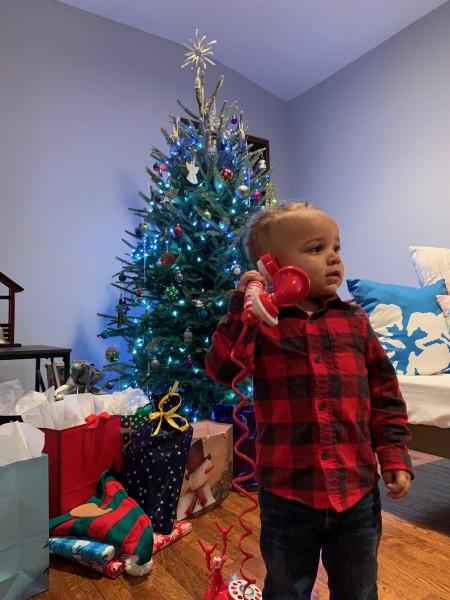 2nd Christmas talking to Santa