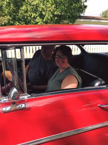 Riding in Liz's dad's classic car is always something on our summer to-do list!