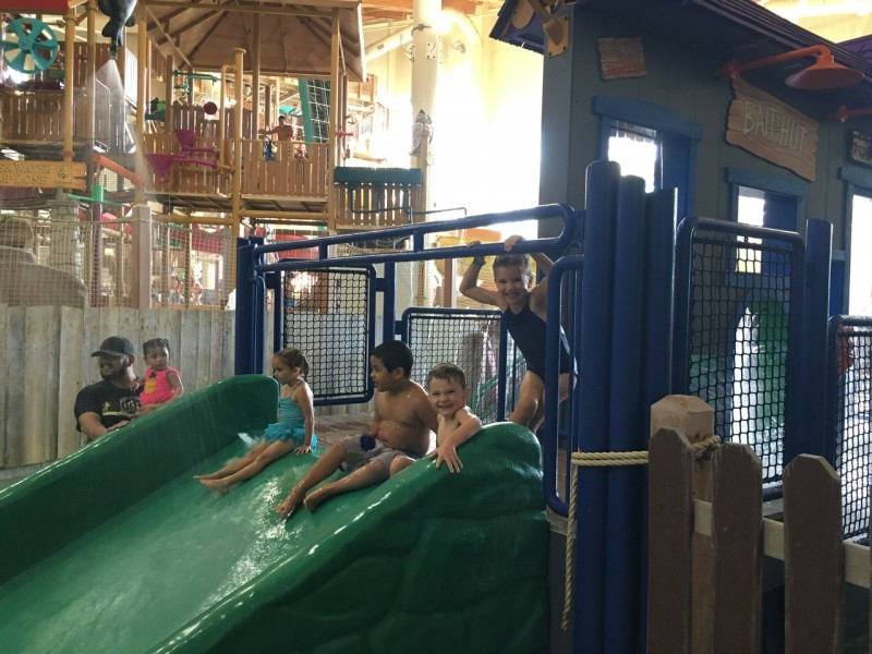 The kids LOVED the waterslides!