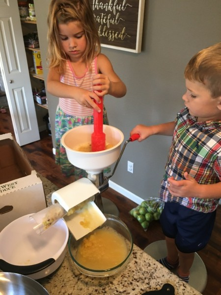 We made applesauce today! These kids lasted about 10min. G kept coming back to mash the apples in though.