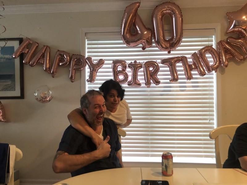 Celebrating Jess' 40th.