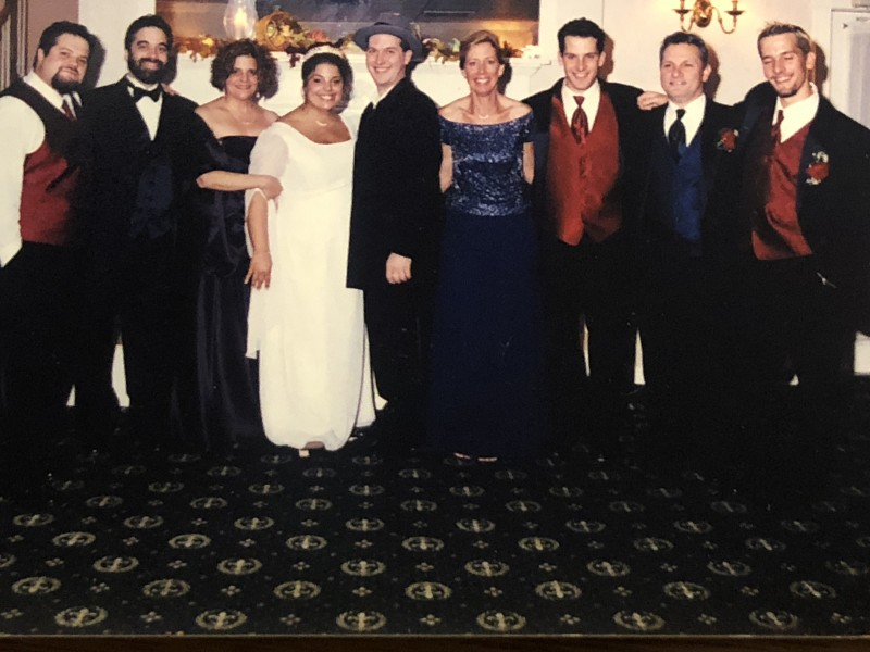 Our families at our wedding in 2004.