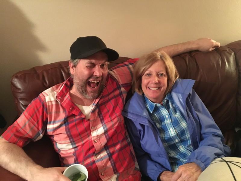 Chris and his mom.