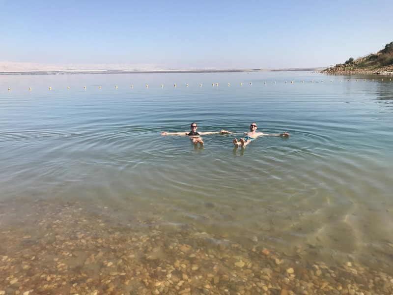 Floating in the dead sea - jordan 2017