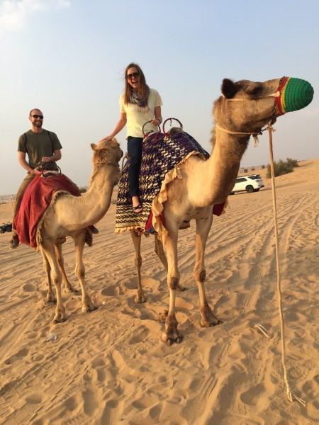 Our first camel ride - dubai 2016