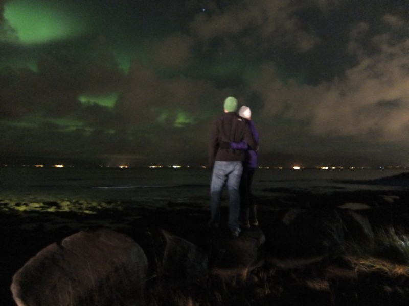 Seeing the northern lights - iceland 2015