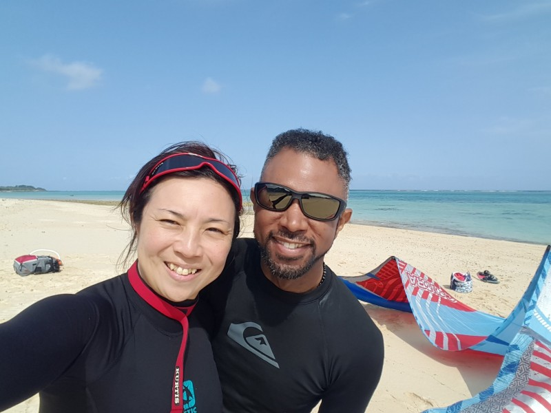 Kiteboarding in Ishigaki Island, Okinawa