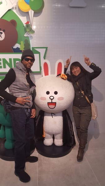 With popular app LINE character Cony