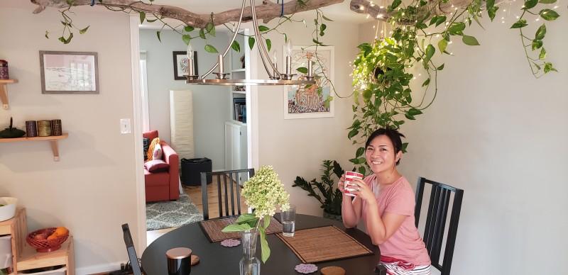 Ayano having latte in Cafe de RAyano