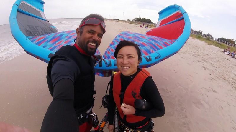 RAyano kiteboarding @ local beach