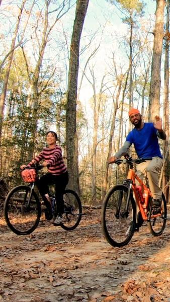 Biking around the forest