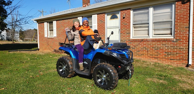 Ra's dad got a new ATV!