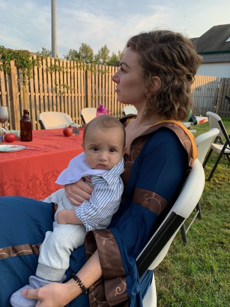 At another renaissance fair with our friend's sweet baby boy