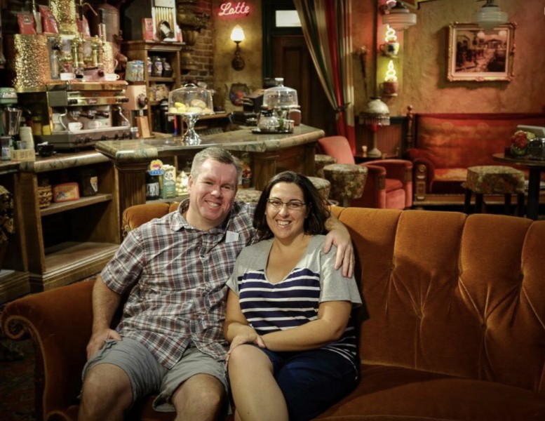 Friends Couch at Central Perk at WB Studios in Los Angeles