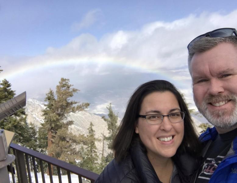 Above the rainbow at San Jacinto Peak, Palm Springs, CA