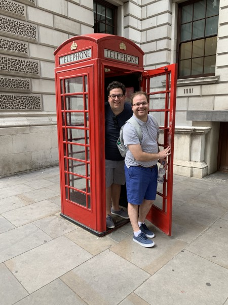 Phone booth fun in London