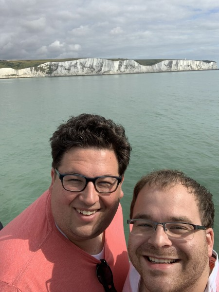 Viewing the White Cliffs of Dover from the English Channel