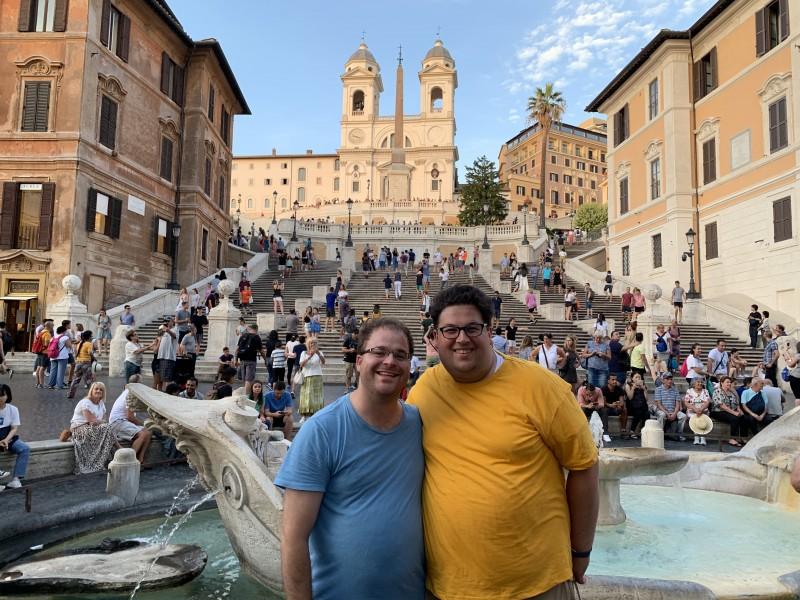 Together at the Spanish Steps