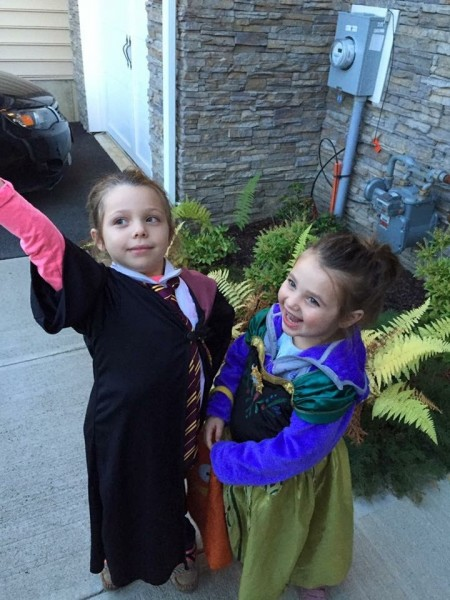 Our nieces on Halloween